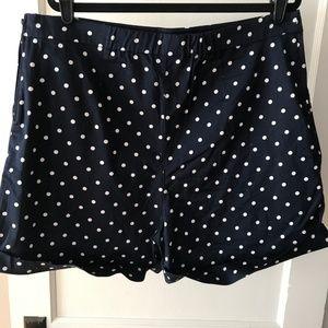 Modcloth Navy/White Polka Dot High Waist Shorts